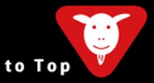 ヒガンバナの来宮渚(堀北真希)のヤギ汁水筒タンブラーのヤギさんマーク。公式サイトのTOPボタン
