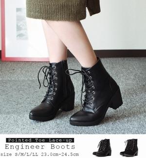 ヒガンバナ来宮渚(堀北真希)の衣装-黒色ブーツ・靴の販売サイト2