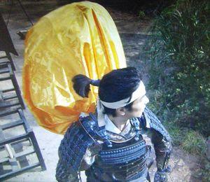 NHK大河ドラマ真田丸23話真田源次郎信繁の背中の黄色い布袋は何?1