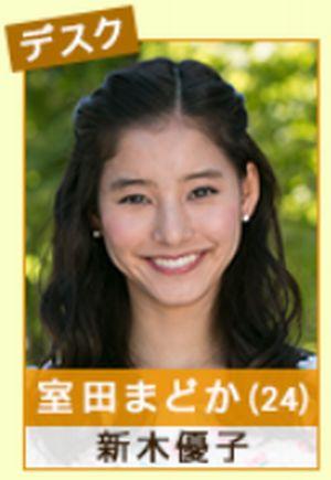 ドラマ家売るオンナの室田まどか(むろたまどか)役・役者は新木優子(あらきゆうこ)テーコー不動産の事務員・デスク